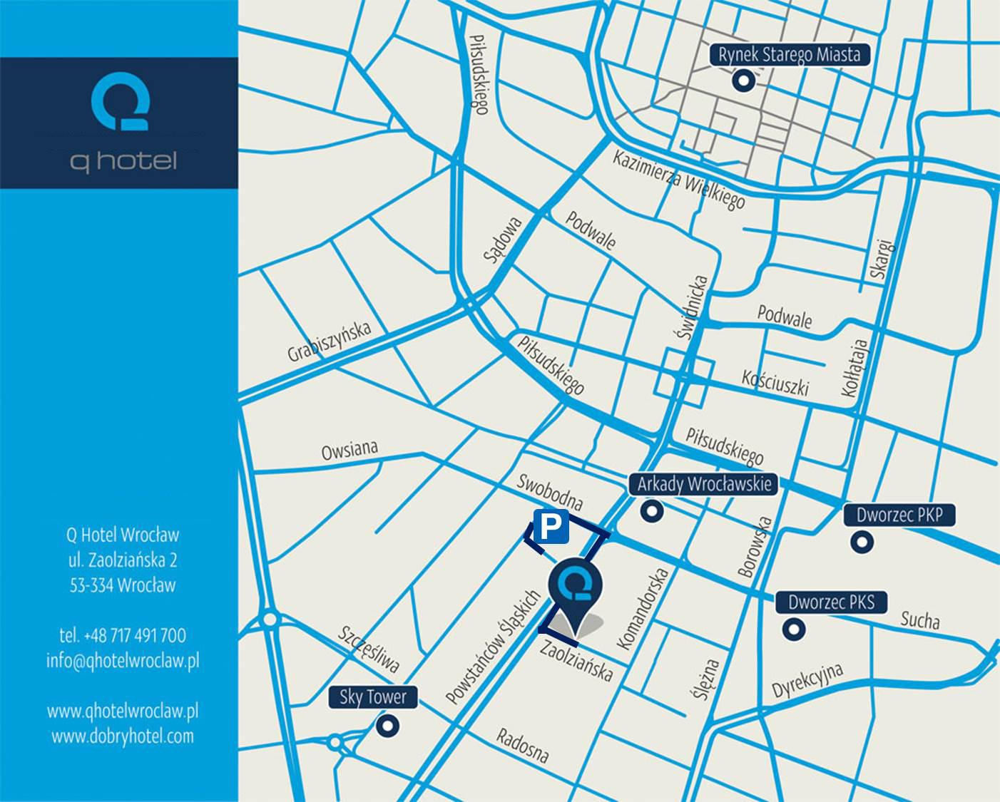 MARBER Mapa dojazdu parking